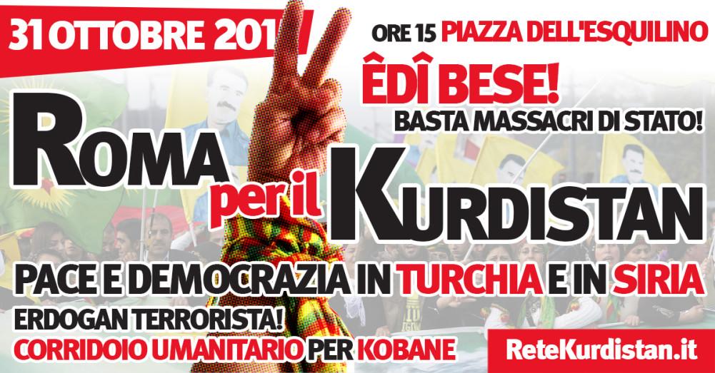 Appello alla mobilitazione nazionale per la pace e la democrazia in Siria e Turchia