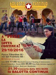 """In Ricordo di """"Pelle"""" Sabato 29 Ottobre a Parco TIburtino III"""